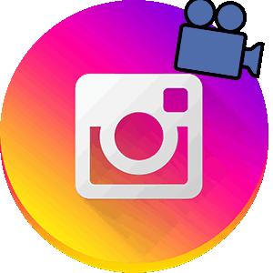 Добавить видео в Инстаграм логотип