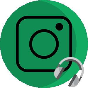 Музыка в Инстаграме логотип