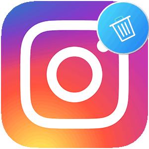 Удалить страницу в Инстаграме логотип