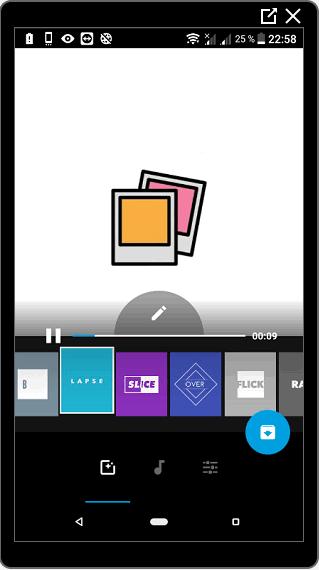 Настройки Quik для видео в Инстаграм