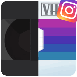 RAD VHS для Инстаграма логотип