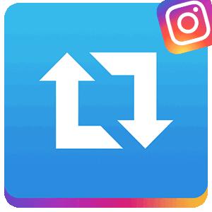 Репост приложение для Инстаграма логотип
