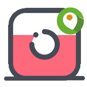 Геотег в Инстаграме логотип
