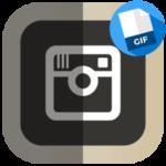 GIF для Инстаграма логотип