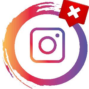 Ошибка сети в Инстаграме логотип
