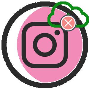 Ошибка загрузки в Инстаграме логотип