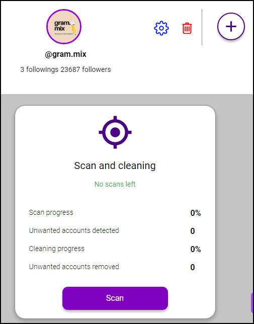 Spamguard удалить подписчиков в Инстаграме