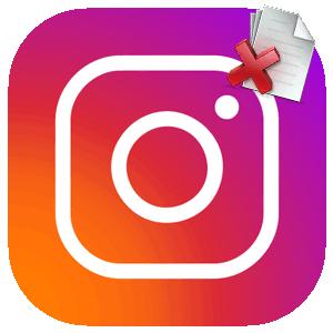 Инстаграм удалить фото логотип