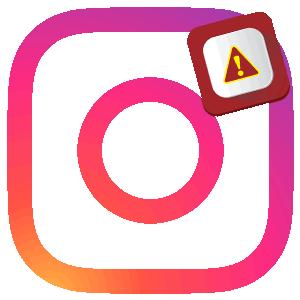 Инстаграм вылетает логотип