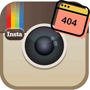 Ошибка в Инстаграме логотип