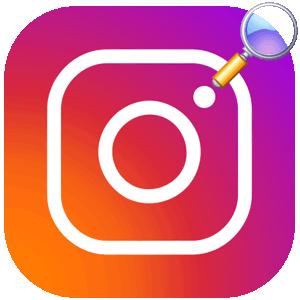 Поиск человека в Инстаграме логотип