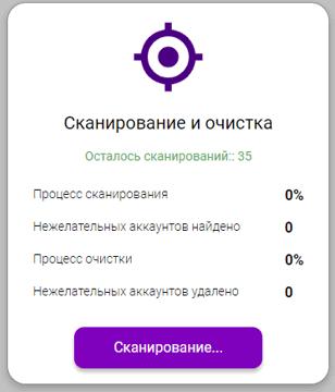 Сканирование в spamguard