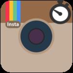 Время для публикации в Инстаграме логотип