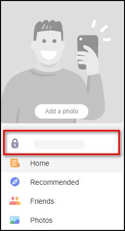 Имя пользователя под фото профиля