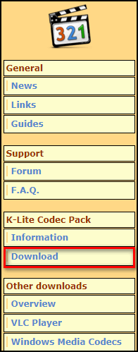Загрузка K-Lite Codec Pack