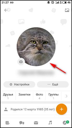 Главное фото в приложении
