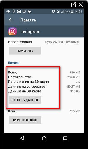 Данные Инстаграма