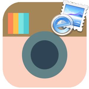 Почтовая марка для Инстаграма