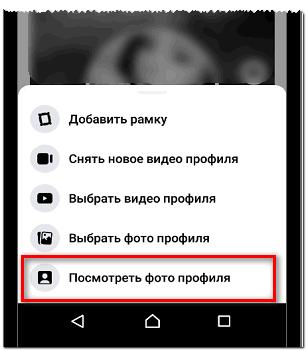 Посмотреть фото профиля через приложение