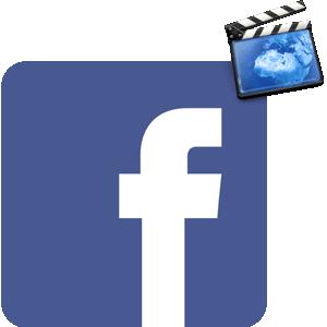 Удалить видео в Фейсбуке логотип