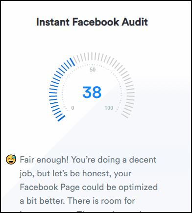 Процент популярности страницы в Фейсбуке