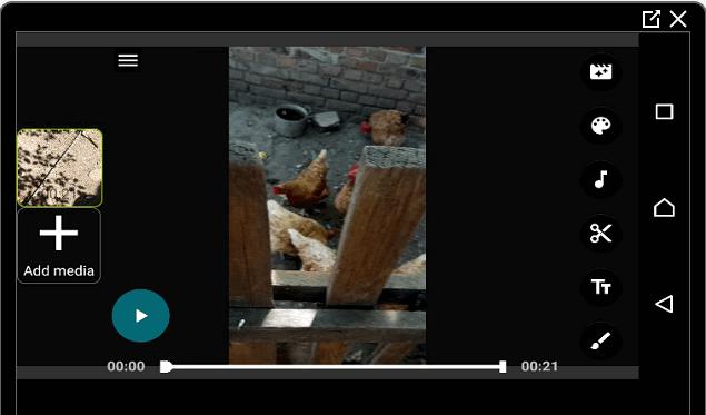 Меню редактора 4K Video